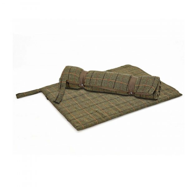 Iwoof Tweed Travel Dog Bed in Green