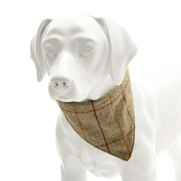 Brown Herringbone Tweed Neckerchief Collar