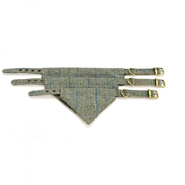 Iwoof Green style 2 Herringbone Tweed Neckerchief Collar