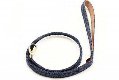Blue Herringbone Tweed Lead