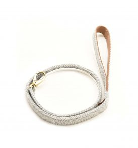 Silver Herringbone Tweed Lead