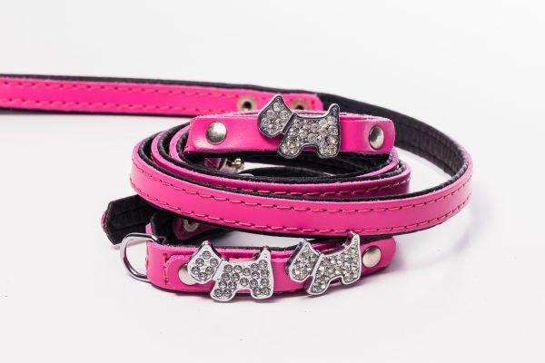 Highland Glam designer dog lead