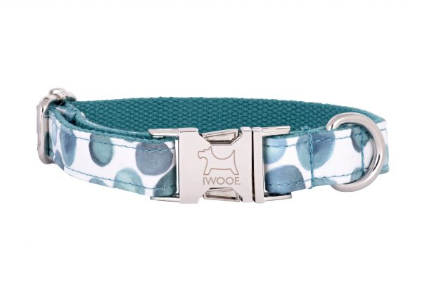 Bubbles designer dog collar and matching dog lead by IWOOF