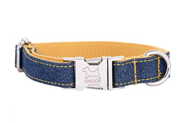Surfer designer dog collar and lead by IWOOF