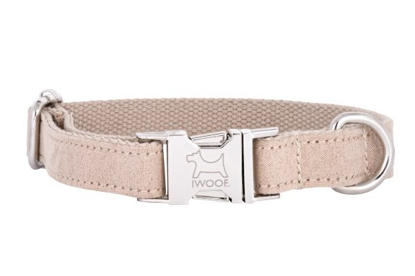 Sand Dune designer dog collar and matching designer dog lead by IWOOF