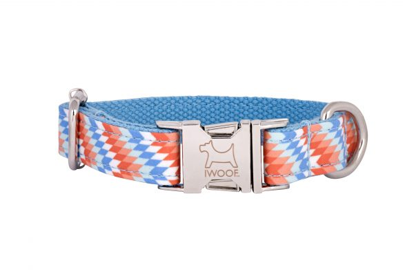 Static designer dog collar and dog lead by IWOOF