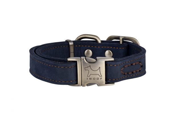 Royal designer leather dog collar by IWOOF