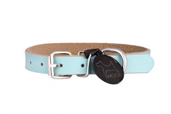 Morwenna designer dog collar and matching designer dog lead in green by IWOOF