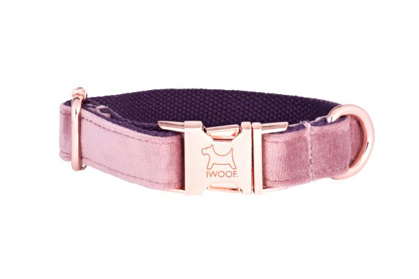 Pink Panther designer dogcollar and matching designer dog lead by IWOOF