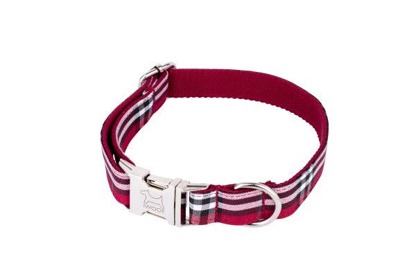 Tomato designer dog collar and dog lead set by IWOOF