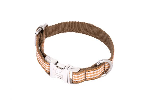 Orange Tart designer dog collar and dog lead by IWOOF
