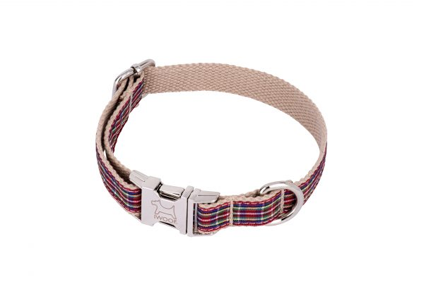 Strawberry Tart designer dog collar and dog lead set by IWOOF
