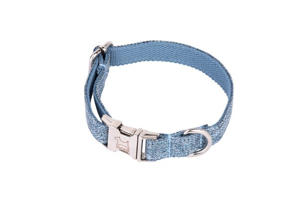 Sky designer dog collar and dog lead set by IWOOF