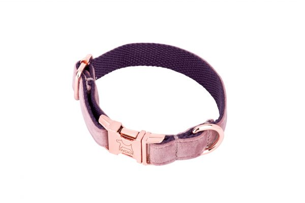 Pink Panther designer dog collar and matching designer dog lead by IWOOF