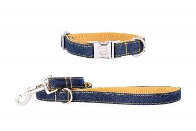 Surfer designer dog collar and matching designer dog lead by IWOOF
