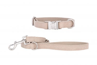 Sand Dune designer dog collar and matching dog lead by IWOOF