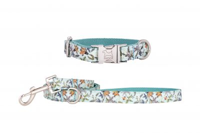 Meadow designer dog collar and dog lead by IWOOF