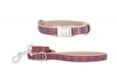 Strawberry Tart designer dog collar and dog lead set by IWOOF