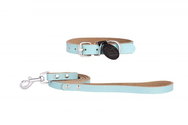 Morwenna designer dog collar and dog lead set by IWOOF