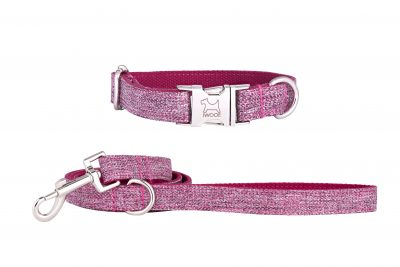 Dog Rose designer dog collar and matching designer dog lead by IWOOF