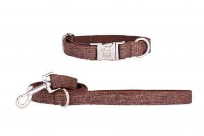 Muddy Puddle designer dog collar and dog lead by IWOOF