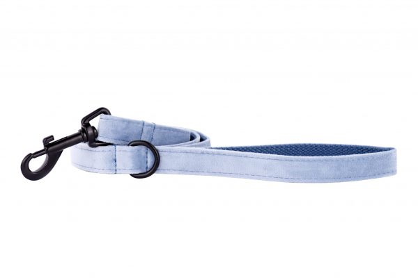 Sky designer dog lead by IWOOF with black fittings