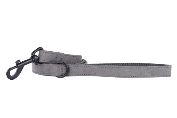 Dolphin designer dog lead by IWOOF with black fittings