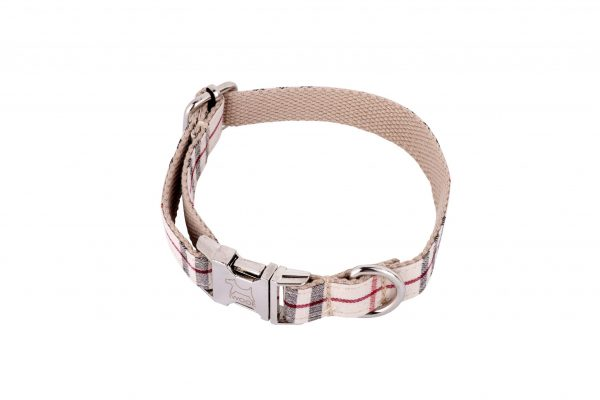 Cambridge tweed designer dog collar by IWOOF