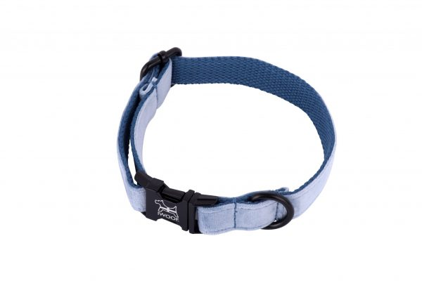 cornish sky hand made designer dog collar and lead by IWOOF