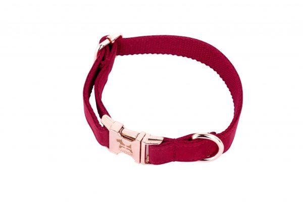Cornish red designer dog collar by IWOOF