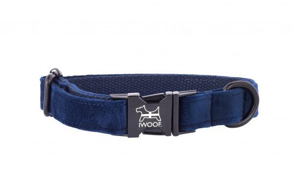 CORNISH BLUE DESIGNER DOG COLLAR HAND MADE BY IWOOF