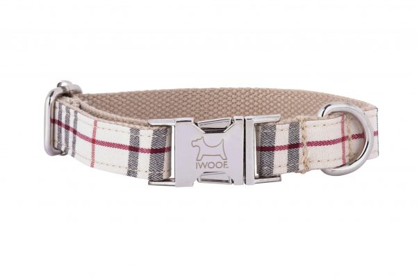 CAMBRIDGE TWEED STYLE DESIGNER DOG COLLAR BY IWOOF