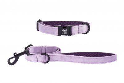Cornish Lavender hand made designer dog collar and lead by IWOOF