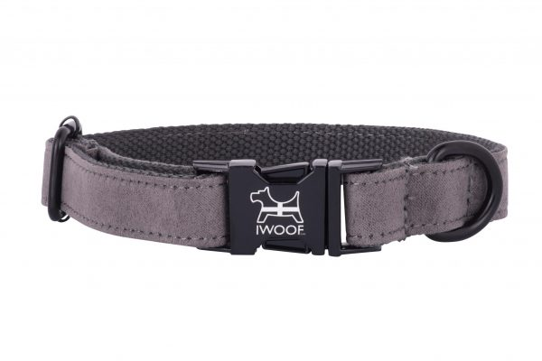 Dolphin designer dog collar by IWOOF with black fittings and Cornish flag