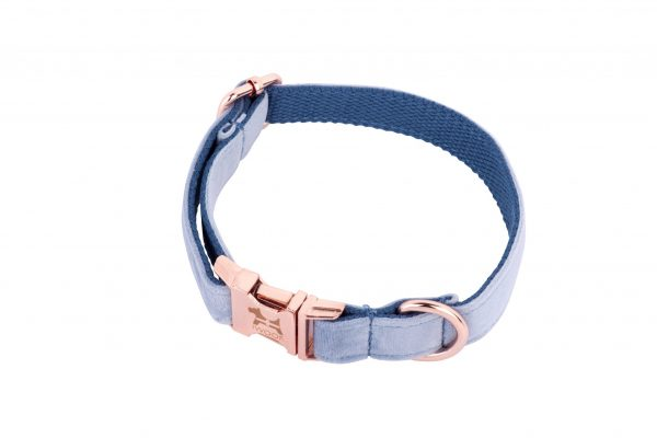 Cornish Sky designer dog collar and lead hand made by IWOOF