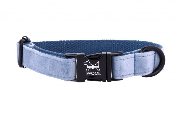 Cornish sky designer dog collar and lead hand madly IWOOF