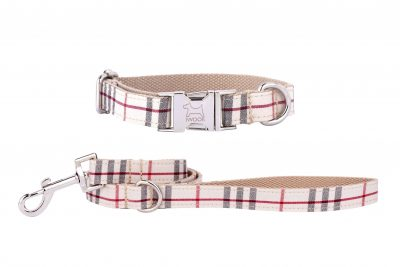 CAMBRIDGE designer dog collar and lead by IWOOF
