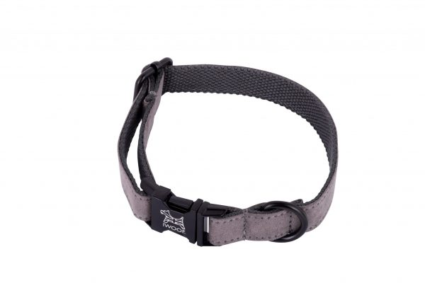 British Grey designer dog collar and lead by IWOOF