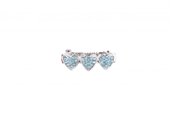 Blue Heart Diamond Dog Hair Clip By IWOOF